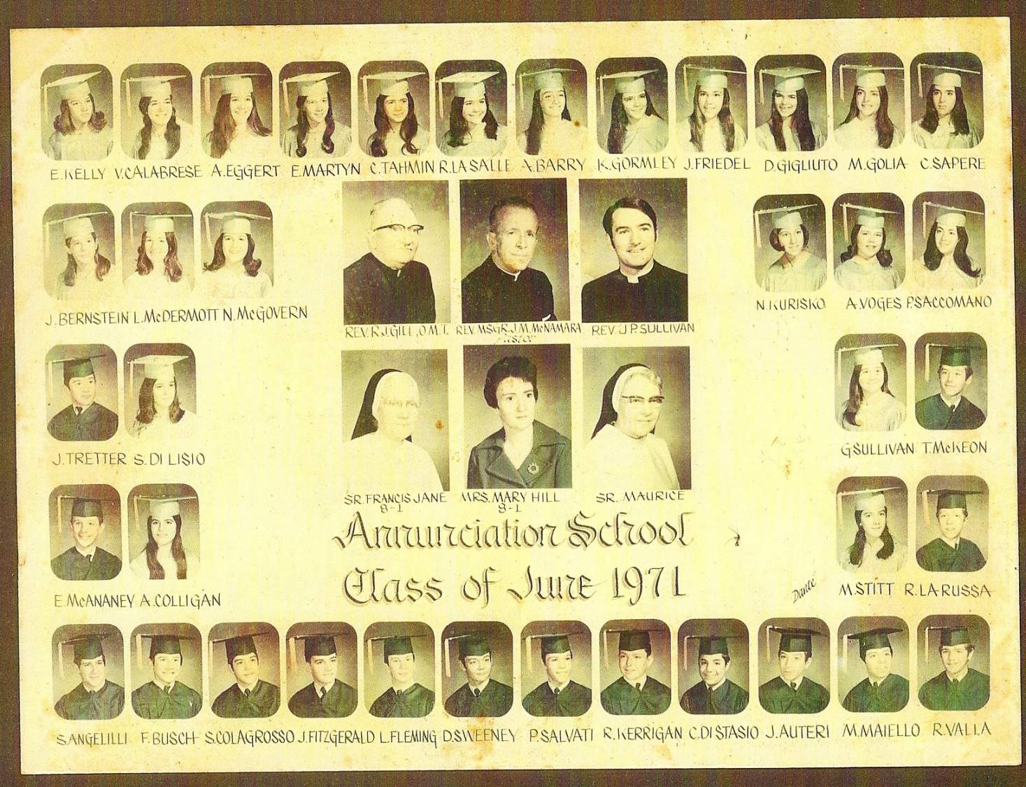 Class of 1971 Class 8-1